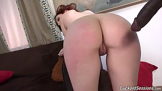 phat ass redhead hussy mary jane mayhem fucks bbc in front of her cuckold