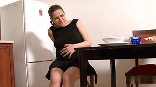 Pregnant Brunette Taken Care Of