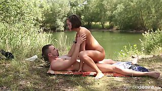 a romantic sex in nature with sweet girlfriend anabelle