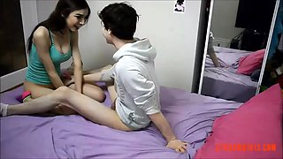 Brother likes when his sister strapon him in the ass like a whore