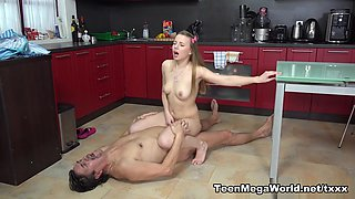 Angel in Older Man Cums On Fresh Tits For Dessert - Old-n-Young