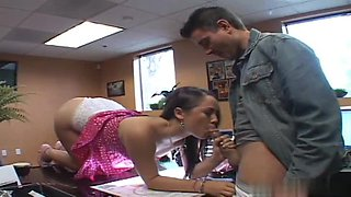 Kristina likes her boss and fucks with him everywhere, even at the office