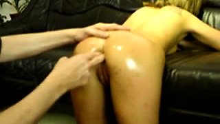 Extreme amateur slave anal fisted and foot fucked