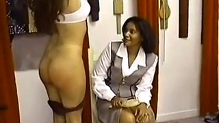 Spanking and strapping for francesca