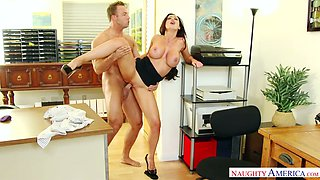 Sex crazed secretary Nikki Benz always does what she is told