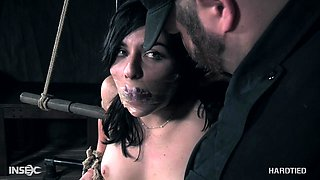 Keira Croft gets an eye rolling orgasm while getting abused in bondage