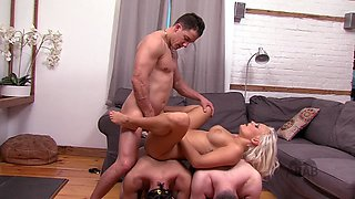 arab mistress cuckold American stud with her two Arab slave