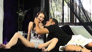 Porn actor seduces beginner virgin model