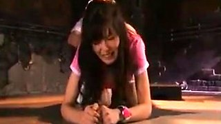 Stunning Japanese girl with a perfect ass blows and bangs a