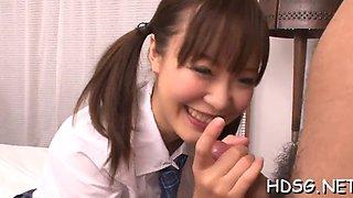 Blindfolded schoolgirl pussy tease