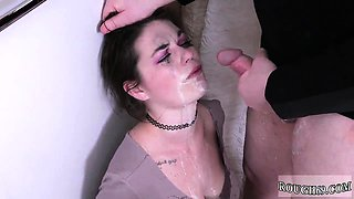 Bride dominated first time And he flushes her head several t