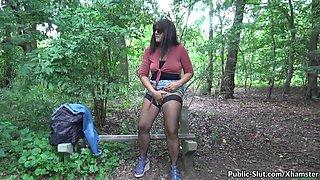 hot fun in public with naughty slutwife