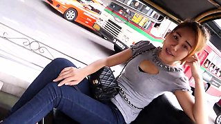 Lilly Rose is picked up and fucked by horny businessman