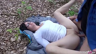 18yr old german college teen seduce to fuck in forest