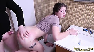 Brutal interracial first time Punish my 19 year-old donk and