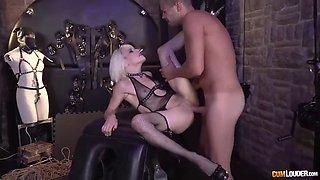 dude has fun with mistress nora barcelona and sex slave alexa nasha