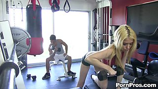A Quick Fuck Between Reps With The Hot Teen Tiffany Fox