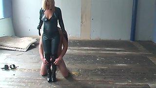 Mistress athena boot wanker