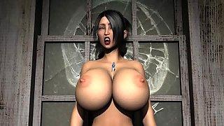 Vampire Breat Inflation CGI 3D Animation BETA