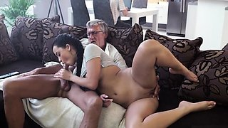 Old teacher fucks student Her beau's dad penetrated her