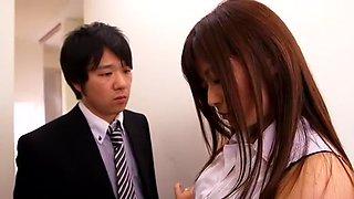 Hottest Japanese girl Haruki Sato in Horny Stockings/Pansuto JAV scene