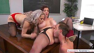 a student fucks two cougar teachers sara jay and alyssa lynn