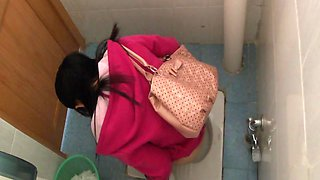 I recorded pissing girls in the public toilet on my hidden cam
