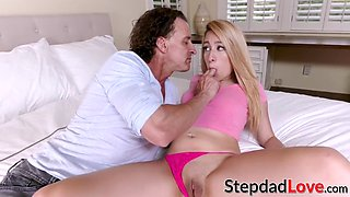hot blonde teen alexa raye drilled hard on bed by older dude