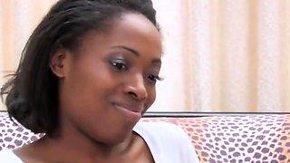 Black Cutie Seducing a White Lesbian