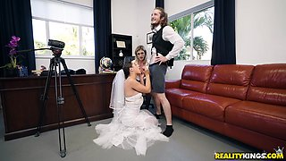 Bride Abella Danger having a threesome with a dick-hungry milf