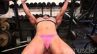 Female Bodybuilder Big Tits in the Gym