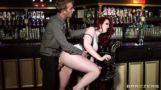 Redhead Fucked Right In The Bar