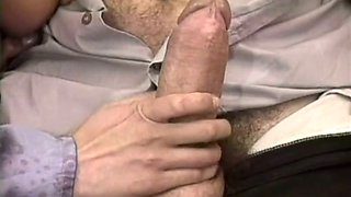 Cock loving beautiful European redhead blowing cock of her colleague