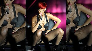 Rihanna Hot Pussy Lip Slip On Stage