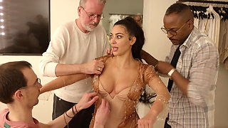 'Kim K.' in her sexy, busty dress for the 2019 Met Gala