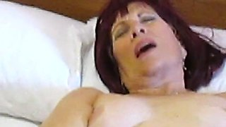 Aunt Sue black pantyhose strip