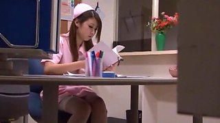 Fabulous Japanese chick Hitomi Kitagawa in Incredible Cunnilingus, Nurse JAV movie
