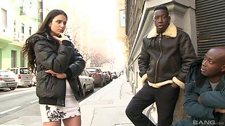 Interracial gangbang with insatiable brunette Mira Cuckold