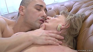 Old whore Sally G gets intimate with her horny young neighbor