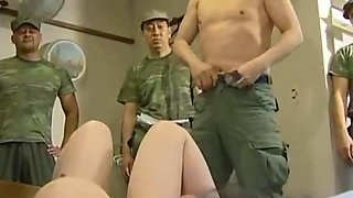 horny soldiers invades family home