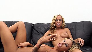 Busty Blondes Audition on Casting Couch with Lesbo Antics