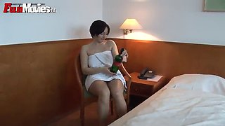 marion kuhl masturbates with a bottle of wine