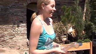 Lesbian oil wrestling Kate  Tanya in the sun