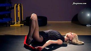 flexible elena proklova posing on cam in a sexy outfit