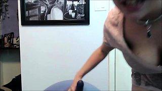 Busty Midget Bouncing Ball Workout