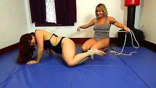 Bondage wrestling match