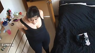 Indian Milf Mom Mature Aunty Busty Topless 2 - Hacked IP Cam