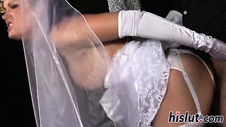 Lovely bride gets nailed at the altar