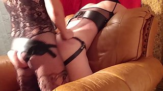 Mistress Licks Ass Then Fucks it Hard and Makes Him Suck Her Cock After
