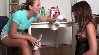 German ordered to smell her friend s feet